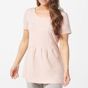 AnyBody Cozy Knit Seamed Tee Pink Sand XS P1075